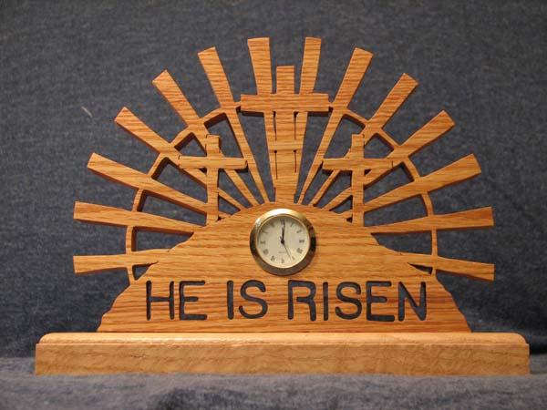 He Is Risen Clock Frame